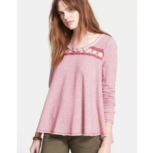 Free People Lacey Love Long Sleeve Thermal Top
